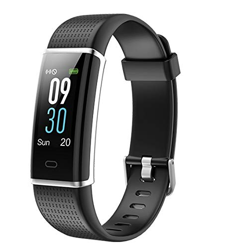 Fitness Tracker [Colour Screen], LATEC Heart Rate Monitor Activity Tracker Wristband Watch Waterproof IP68 with Sleep Monitor Pedometer 14 Exercise Mode Weather Display Call SMS SNS Push Remote Camera