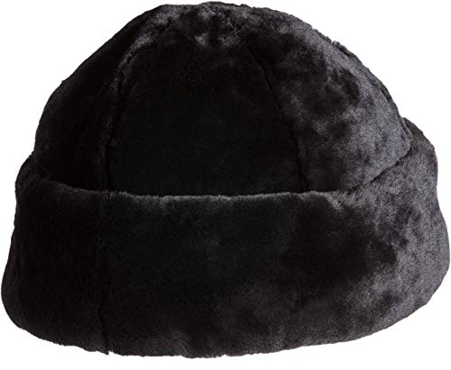 Overland Sheepskin Co Australian Mouton Shearling Cossack Hat Black