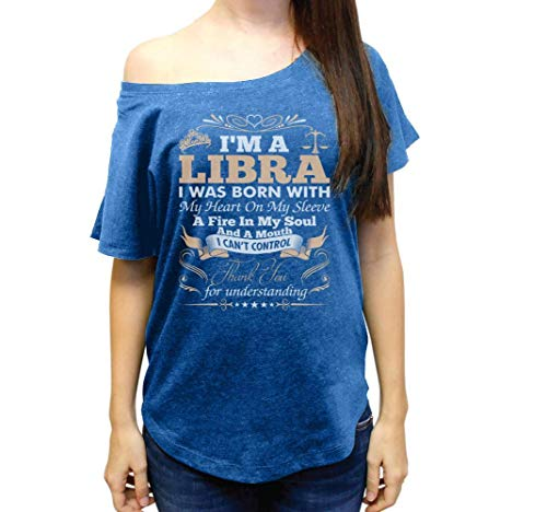 I_m a Libra Thank You for Understanding Wide Neck Women's Tri-Blend Dolman Tshirt