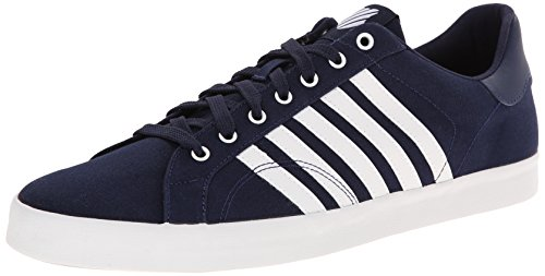 Belmont Counter - K-Swiss Men's Belmont Stitched T Canvas Court Inspired Shoe, Navy/White, 10.5 M US