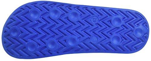 Diadora Men's Serifos 90 Flip Flops, Black Blue (Azzurro)