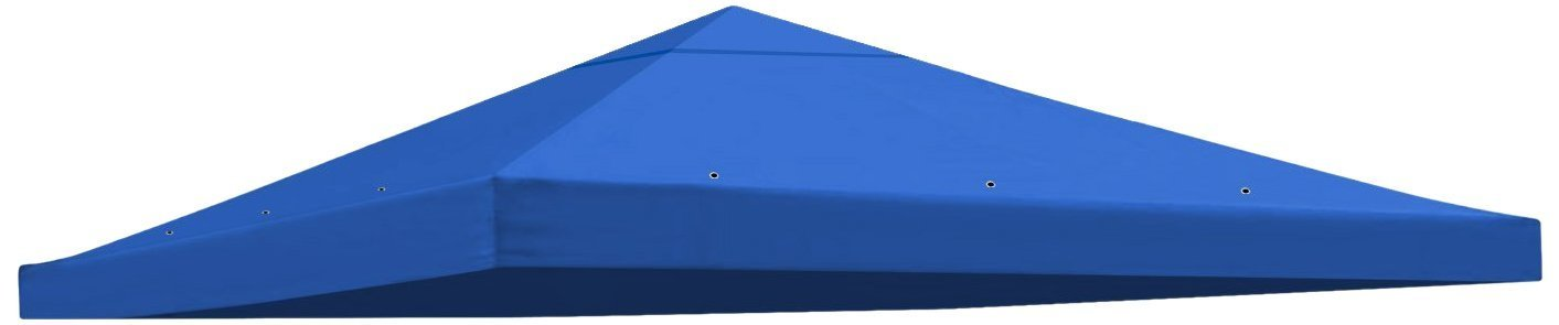 Replacement 10'X10'gazebo canopy top patio pavilion cover sunshade plyester single tier (Blue)
