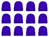 Gelante Unisex Beanie Cap Knitted Warm Solid Color Multi-Packs (12 Pack: Royal Blue)