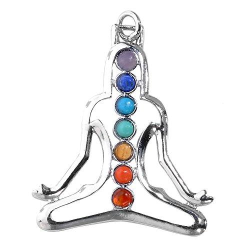 Chakras Natural Gemstones Pendant Healing