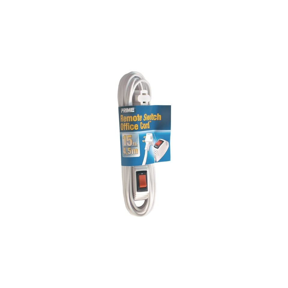 Wire & Cable EC870615 15 Foot 16/2 SPT 2 Remote Switch Cord, White