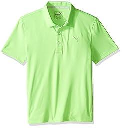 Puma Golf Boys Junior ESS Pounce Polo, Green Gecko, Small
