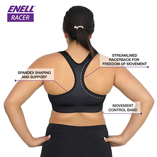 ENELL, Racer, Women's Full Coverage Racerback Sports Bra