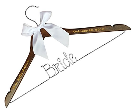 - Bride Wedding Dress Hanger-Bride Heart Hanger-Custom Dress Hanger Initials Heart Bridesmaid Dress hangger Bride Wire Hanger Bride Wedding