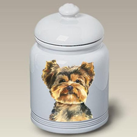 - Best of Breed Yorkie Puppy Cut - Barbara Van Vliet Ceramic Treat Jars