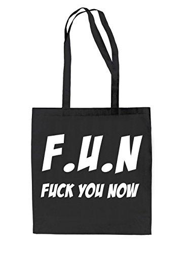 F.U.N - Fuck You Now Jutebeutel Black