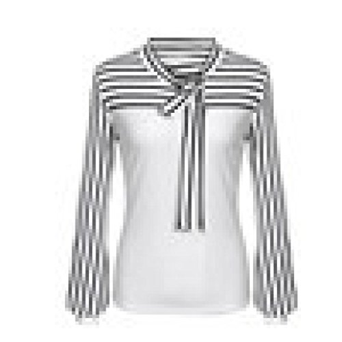 Casual Chemise Shirt Femmes Blouse Chemisier Classique Chemise Ray Cou Blanc Covermason T Longues pissage Bow Shirt Cravate Manches zpqwn7PH