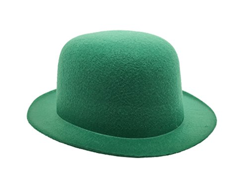 [Costume Felt Derby Bowler Hat for Saint Patricks Day, Green] (St Patrick Saint Costume)