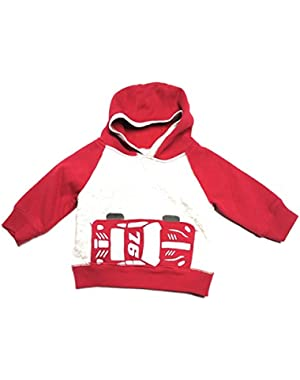 Baby Boys' Racecar Red and Grey Hoodie, 6-12 months