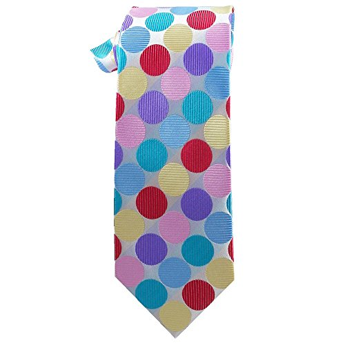 Mens White with Bright Dots (Clown dot) (Tie Clown Long)