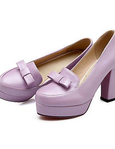 Zapatos 5 Pink tac¨®n Vestido Uk4 us6 semicuero Pump Casual Cn36 Zq B¨¢sico Plataforma Y 7 Trabajo us6 Robusto 5 tacones Eu36 De Morado Purple 5 Uk4 oficina rosa Cn37 Mujer tacones Eu37 AwOOtqdg