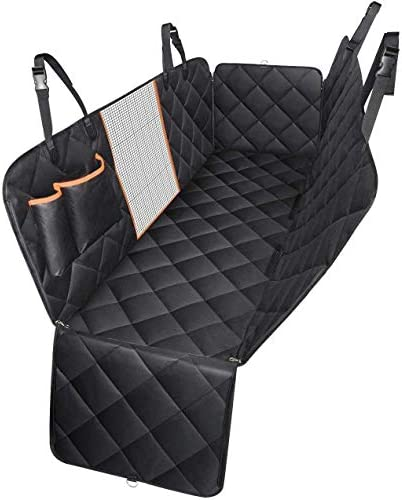 Mpow Dog Seat Cover, Dog Car Seat Covers with Mesh Viewing Window Storage Pocket, Non-Scratch Dog Car Hammock for Back Seat, Nonslip Backing Pet Seat Cover for Cars SUVs Trucks
