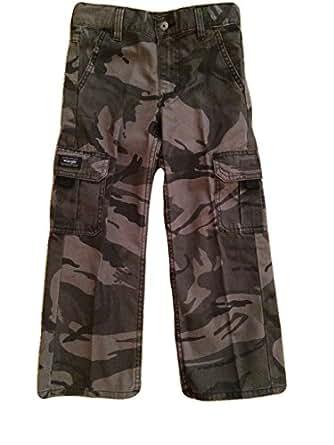 Wrangler Boys Camo Cargo Pants Classic Twill (6 Regular, Grey Camo)