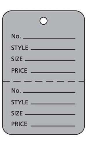 "Box of 1000 New Retails Large Grey Unstrung Coupon Price Tags 1¾''W x 2⅞""H by Price Tags"