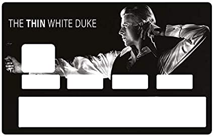 63e7b68fc4e DECO-IDEES credit card Sticker - DAVID BOWIE, The Thin white duke -  Personalize Your Credit Card Visa or MasterCard with These Removable  Stickers