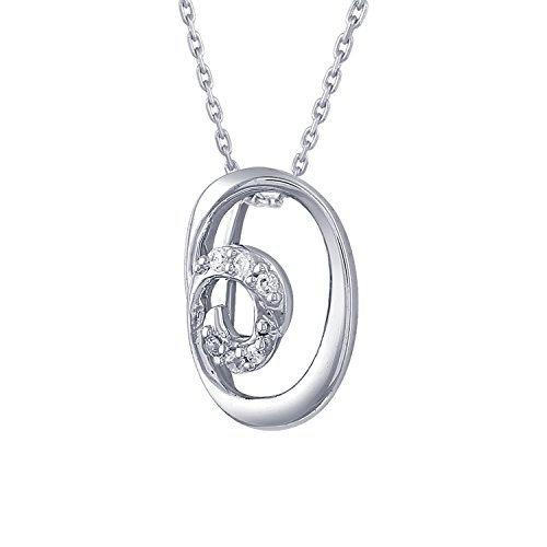 Giantti 14 carats Diamant Pendentif Femme Collier (0.028 CT, VS/Si-clarity, Gh-colour)