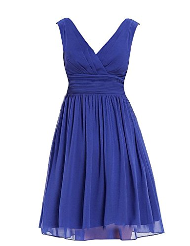 FavorGrace Women V-neck Sheer Layer short Bridesmaid Dresses TAILOR MADE (After Six Stretch Bridesmaid Dress)