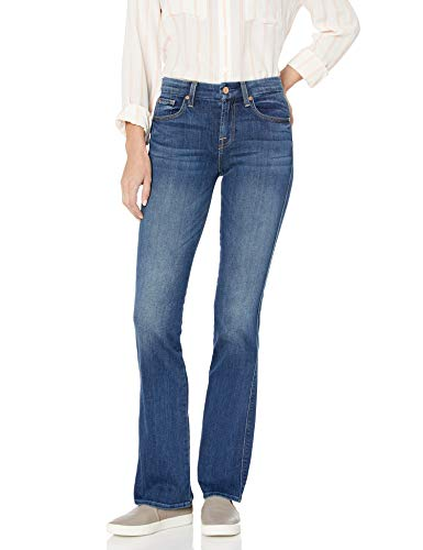 7 For All Mankind 1037 for All Mankind Women's Bootcut Jean, Rich Coastal Blue, 31 from 7 For All Mankind