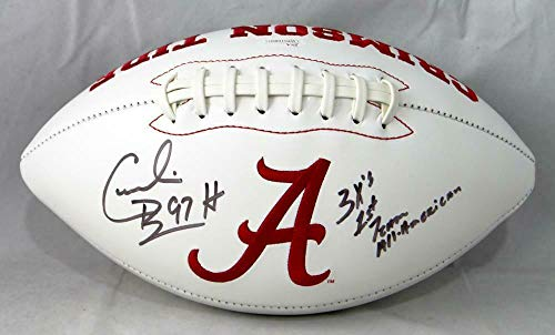 Cornelius Bennett Signed Football - Alabama Logo w Insc W Auth - JSA Certified - Autographed College Footballs (Autographed Football Bennett)