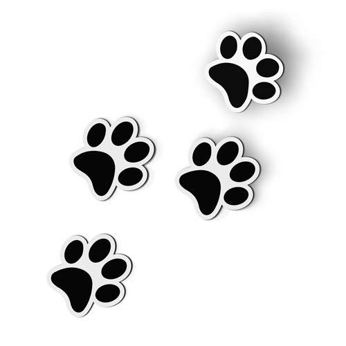 AK Wall Art Cat Footprints Set of 4 - Magnet - Car Fridge Locker - Select Size
