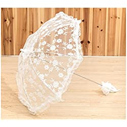 brides parasol New Pattern Battenburg Lace Vintage Umbrella Parasol For Bridal Bridesmaid Wedding