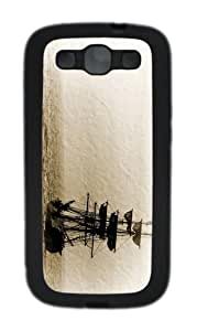 covers brand new Sailboat Art TPU Black case/cover for Samsung Galaxy S3 I9300
