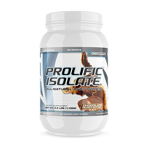 G6 Sports Nutrition Prolific Isolate All Natural Whey Protein Isolate (Gluten Free, Lactose Free, Soy Free, Stevia Sweetened, 25g Protein, 100 Calories) – 2.5lb Jar – Chocolate Peanut Butter