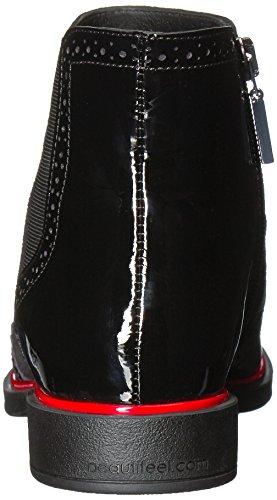Belle Femme Arielle Bottine Ivoire / Noir 3d Combinaison Spigato
