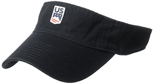 US Ski-Snowboard Licensed Apparel U.S. Ski Team Logo Visor, Navy, One Size