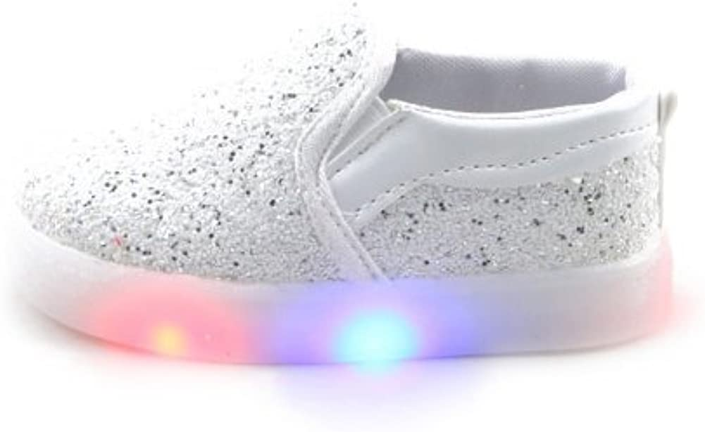 Feicuan Toddler Girls LED Flashing Shoes Light Up Sneakers