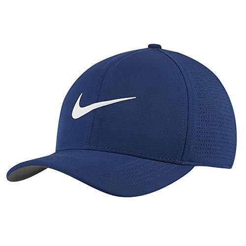 Nike AeroBill Classic 99 Performance Golf Cap 2019 Blue Void/Anthracite/Sail Medium/Large (Best Golf Caps 2019)