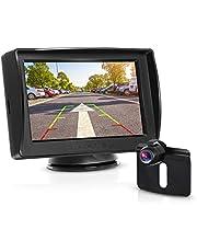 """BOSCAM K3 kamera cofania i zestaw monitorów, przewodowa kamera cofania ze stabilną transmisją sygnału, monitor tylny 14,4 cm (4,3""""), wodoszczelna kamera do samochodu, autobusu, ciężarówki, autobusu, przyczepy"""