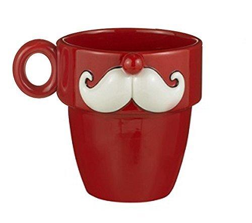 Grasslands Road Mustache Ceramic 10 Ounce Mug (Assorted Styles)