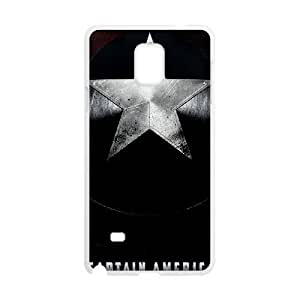 AKERCY Avengers Age of Ultron Captain America Phone Case For Samsung Galaxy note 4 [Pattern-2]