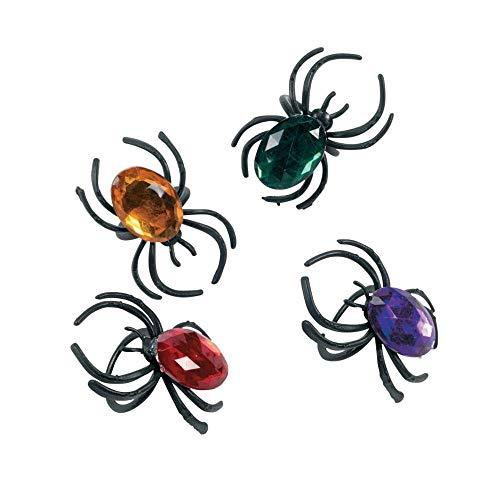 Fun Express Jewel Spider Rings ()