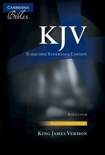 (KJV Turquoise Reference Bible, Black Calf Split Leather, Red-letter Text, KJ674:XR)