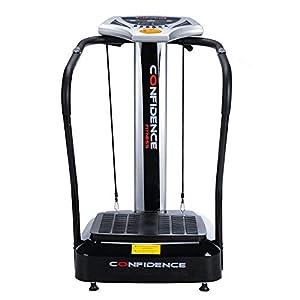 Confidence Fitness Slim Full Body Vibration Platform Fitness Machine, Black (Certified Refurbished)