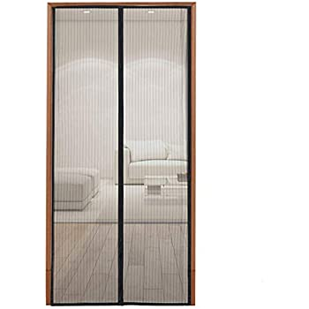 Magnetic Screen Door with Heavy Duty Mesh and Full Frame