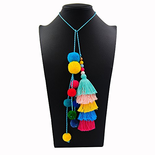 Mmrm Colorful Pompom Ball Tassel Pendant Handbag Ornaments Purse Charm Decor ()