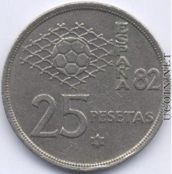 25 pesetas 1980 para monedas de la bandera de España: Amazon.es: Hogar