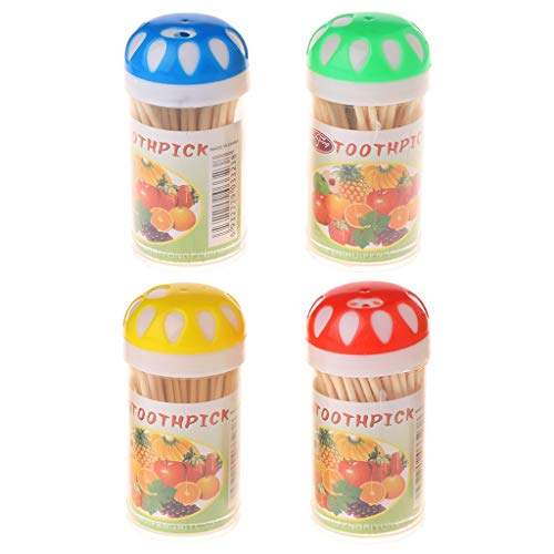 SYlive 100 Wood Wooden Appetizer Toothpicks Picks for Cheese & Fruit Snacks]()