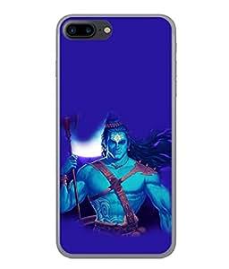 PrintVisa Designer Back Case Cover for Apple iPhone 7 (Shiva Shankar Om God Blue Religious Bhagwan Skyblue)