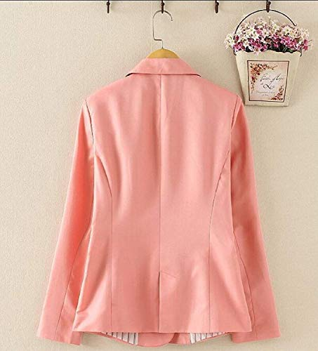 Autunno Bolawoo Button Mode Leisure Giubotto Manica Lunga Confortevole Marca Suit Tailleur Anteriori Di Baggy Bavero Giacca Rose Outwear Monocromo Da Donna Tasche rI8wr