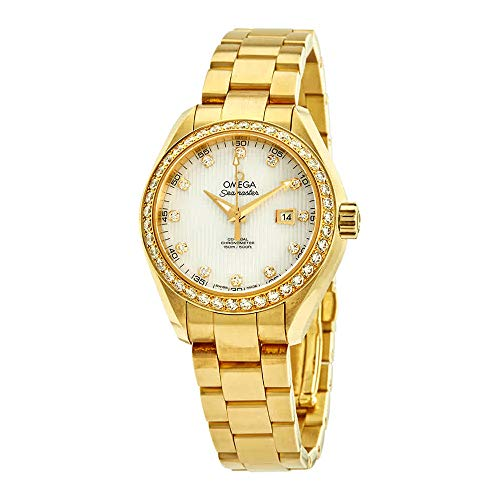 Omega Seamaster Aqua Terra Automatic Ladies 18kt Yellow Gold Watch 231.55.34.20.55.001