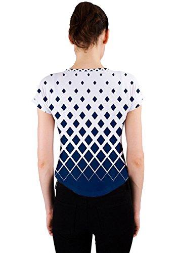 CowCow - Camiseta sin mangas - para mujer White & Blue