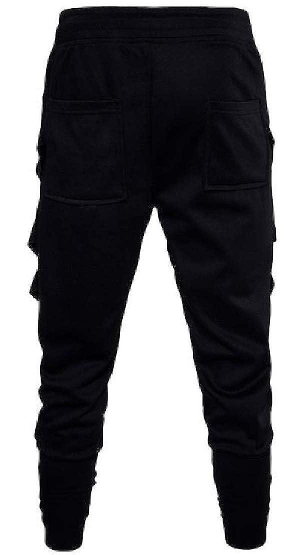 Wofupowga Mens Sport Drop Crotch Hip Hop Sweatpant Casual Harem Pants